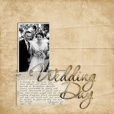 wedding scrapbook page inside my album a layout four years in the digital