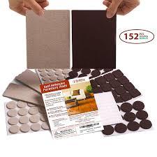 seddox premium felt furniture pads two colors set brown beige