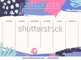 weekly planner stock images royalty free images u0026 vectors