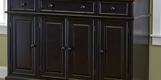 momentous black buffet with glass doors tags black sideboards