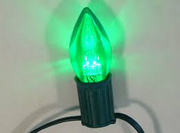 c9 green led light bulbs transparent lights