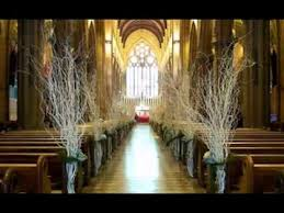 simple church wedding decor ideas youtube