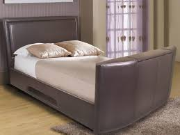 Kingsize Tv Bed Frame Rathbone King Brown Leather Tv Bed Sleepland Beds