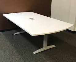 48 x 96 table hon 48 x 96 arc end conference table white top platinum legs