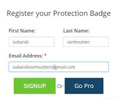 cara memasang badge dmca protected di blog tutorial komputer