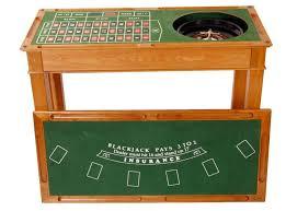 poker game table set 4 in 1 wooden casino bar game table roulette craps blackjack poker