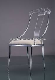 Clear Acrylic Dining Chair High Back Clear Acrylic Dining Chair With Cushion View Acrylic