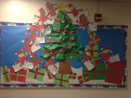 christmas bulletin board by me a 3d christmas tree with student