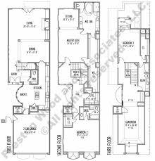 Narrow Lot House Plans Houston Three Story Townhouse Floor Plans Carpet Awsa