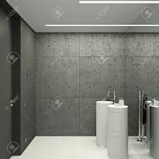 wc in a modern office in white color stock photo picture and