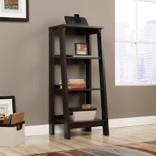 amazon com sauder 414565 bookcases furniture trestle jamocha