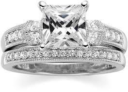princess cut cubic zirconia wedding sets jcpenney cubic zirconia wedding sets tbrb info