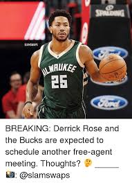 Derrick Rose Jersey Meme - slamswaps 25 breaking derrick rose and the bucks are expected to