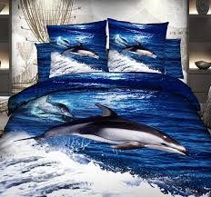 3d blue ocean dolphin bedding sets bedspread duvet cover cal king