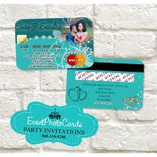 Visa Black Card Invitation Credit Card Quinceanera Invitations Sweet 16th Invitations