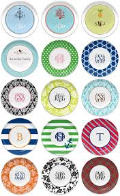 monogrammed plate monogrammed melamine plates make great bridesmaid gifts or wedding