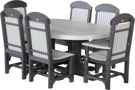 ohio tables and chairs luxcraft poly 4ft 6ft oval table set 2 with 4 table chairs 2