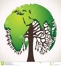 green tree design with world map royalty free stock photography