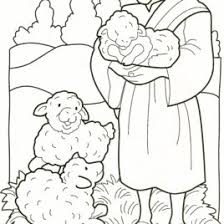 coloring page jesus good shepherd archives mente beta most