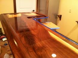 Two Part Epoxy Resin Bar Top How And When To Sand Epoxy Bartop Coating Woodworking Talk