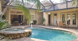 florida house plans with pool design a bedroom pool house plans with courtyard house