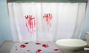 bloody shower curtain home design ideas and pictures bath and shower accessories curtain mat