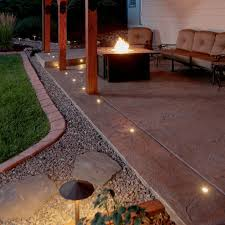 Patio Paver Lights Outdoor Led Paverdot Light Kit With 5 Ft Cables Dekor Lighting