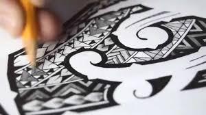 polynesian tribal tattoo speed drawing youtube