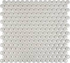 warm grey penny round mosaic mosaic penny round gray grey