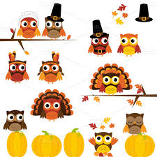 check out thanksgiving owls clipart vectors by pinkpueblo on
