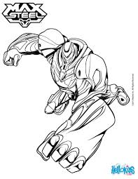 superhero turbo max steel coloring pages hellokids