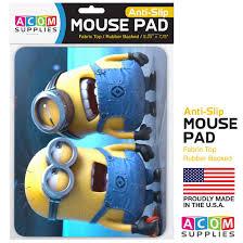 Minion Desk Accessories by Amazon Com Mouse Pad Minions Full Color Anti Slip Rubber Backed