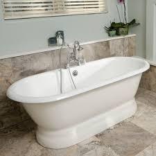 randolph morris clawfoot tub rim mount shower enclosure with