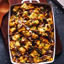 cornbread u0026 oyster mushroom stuffing recipe eatingwell