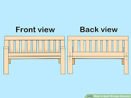 how to build wooden benches with pictures wikihow