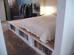 Build A Platform Bed With Drawers by Look Diy Platform Bed With Storage Apartment Therapy