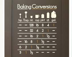 Kitchen Cabinet Decals Kitchen Measurement Decals Baking Conversion Decals