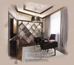 interior design of a study photos and 3d visualisations of study
