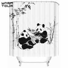 compare prices on panda bathroom shower curtain online shopping