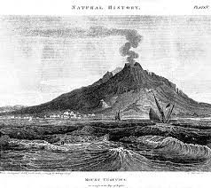 old photographs and drawings of mount vesuvius
