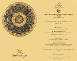 Ganesh Puja Invitation Card Performances At Ignca