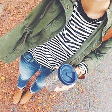 and casual and casual fall look cargo stripes and booties you can