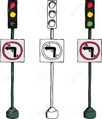 Traffic Light Clipart No Left Turn Traffic Light Over White Background Royalty Free