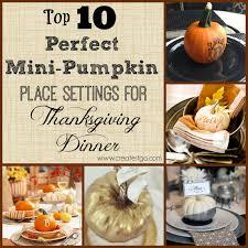 top 10 mini pumpkin place settings for thanksgiving dinner
