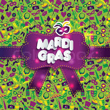 mardi gras paper bright illustration on seamless texture and sign mardi gras