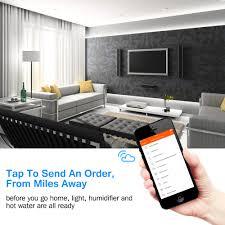 2x wi fi smart uk plug timer for amazon alexa phone remote control