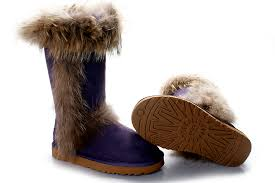 womens ugg boots fox fur ugg leather moccasins cheap ugg purple fox fur boots outlet