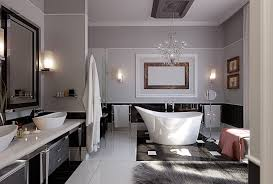 minimalist luxury bathroom chrome towel hanging lumber chair pure