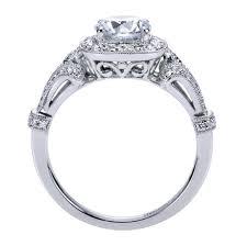 vintage halo engagement rings 14k white gold vintage halo engagement ring