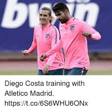 Diego Costa Meme - diego costa training with atletico madrid httpstco6s6whu6onx diego